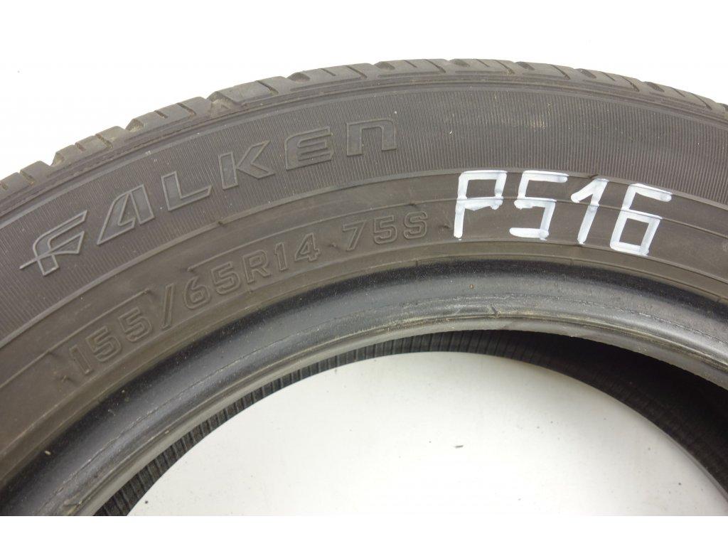 Letní Falken 155/65R14 - 4ks - vzorek cca 5,2 mm