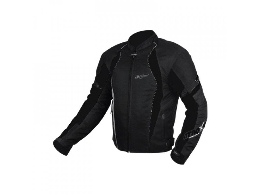 ATROX letní textilní pánská moto bunda černá - MotoNero.cz e55419fd92