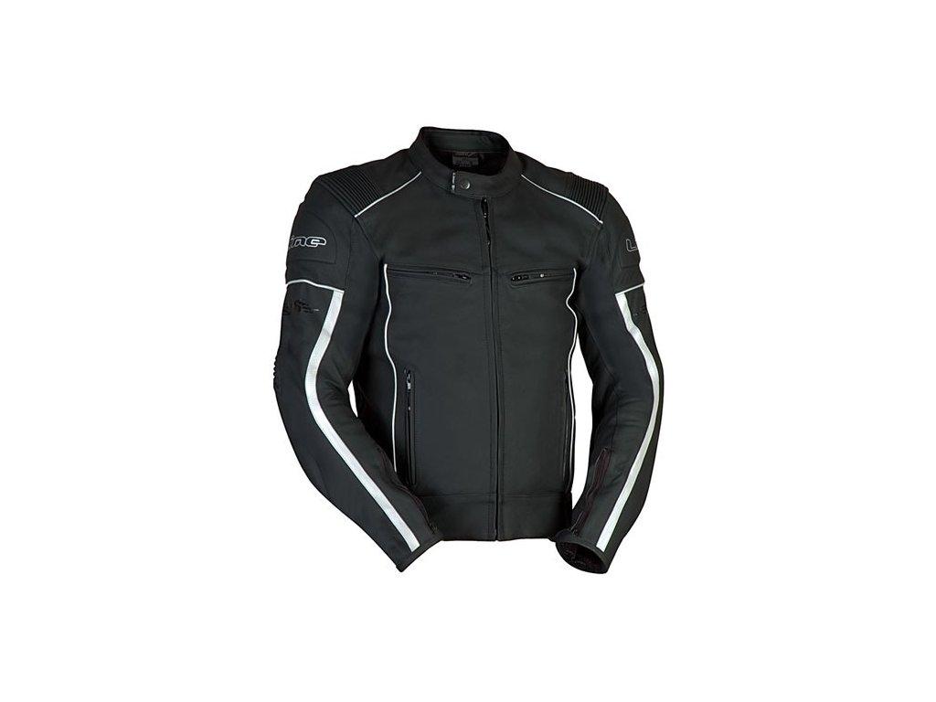 MBW OLIVER kožená bunda na motorku černá