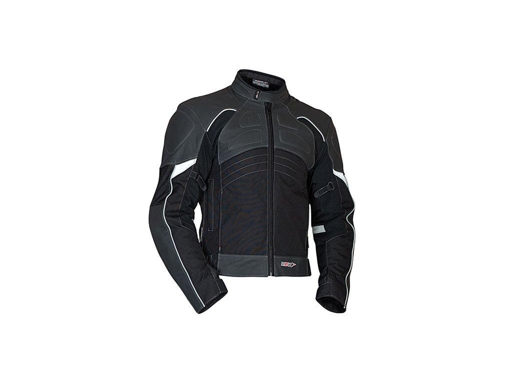 MBW LANTA moto bunda kůže + textil černá