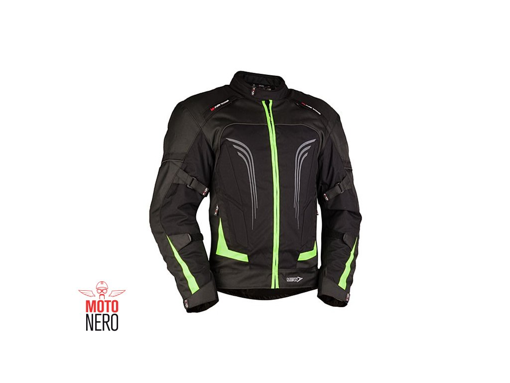 MBW CANDELA pánská textilní moto bunda černá fluo