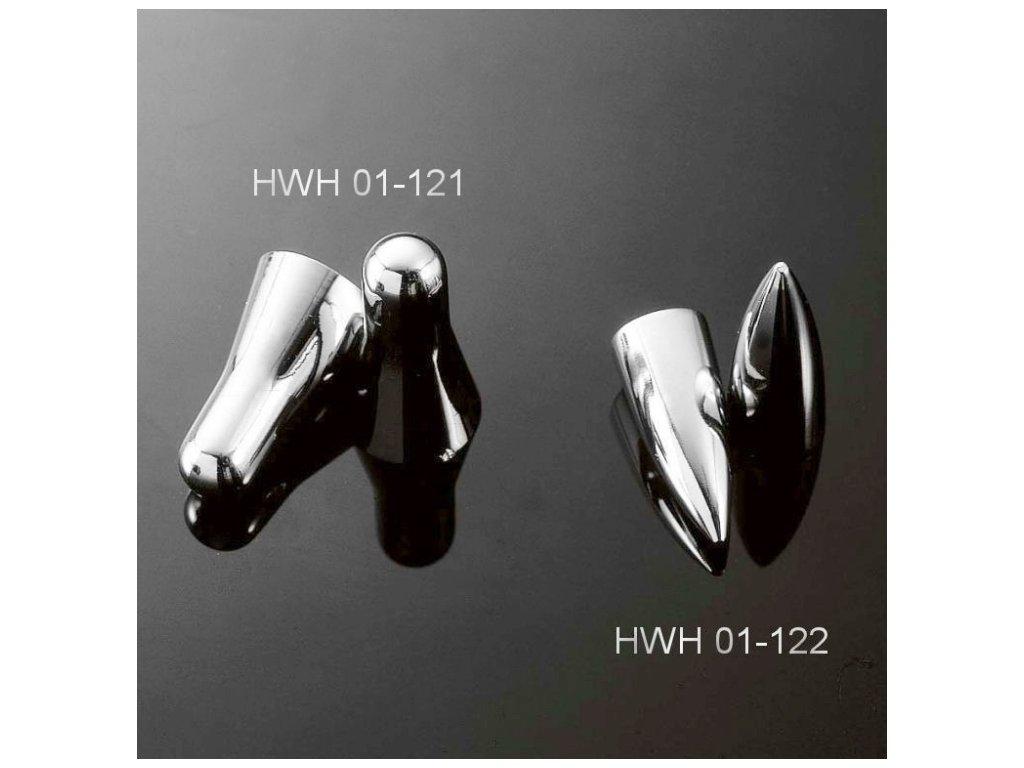 "Highway Hawk Čepičky na ventilky ACORN (kužel), 16"", chrom (2ks)"