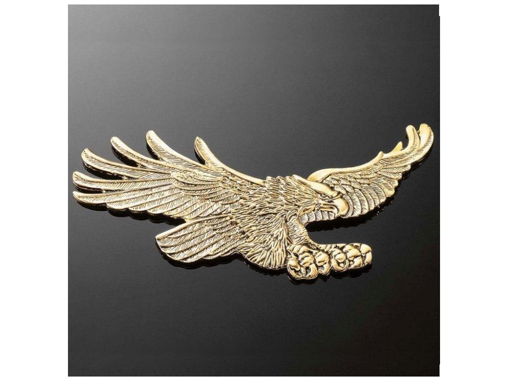 Emblém samolepící, Highway Hawk EAGLE 155x70mm (orel), mosaz