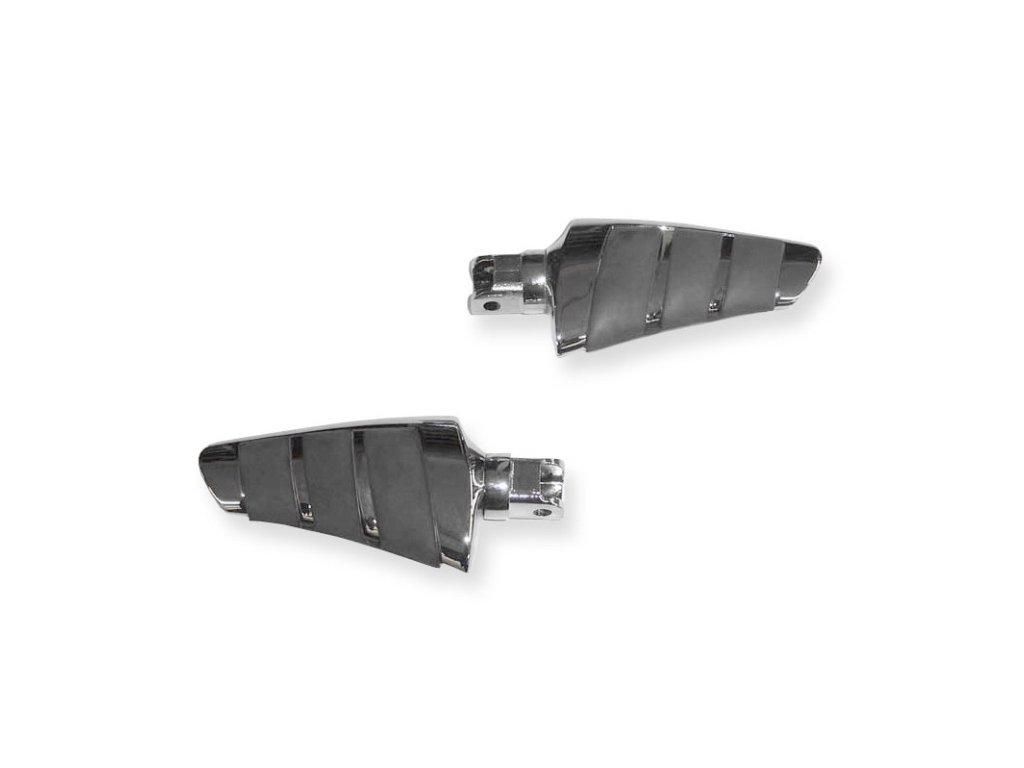 Stupačky řidiče Highway Hawk SMOOTH pro motocykly YAMAHA XV535/750/1000/1100 a XVS650/1100 (pár)