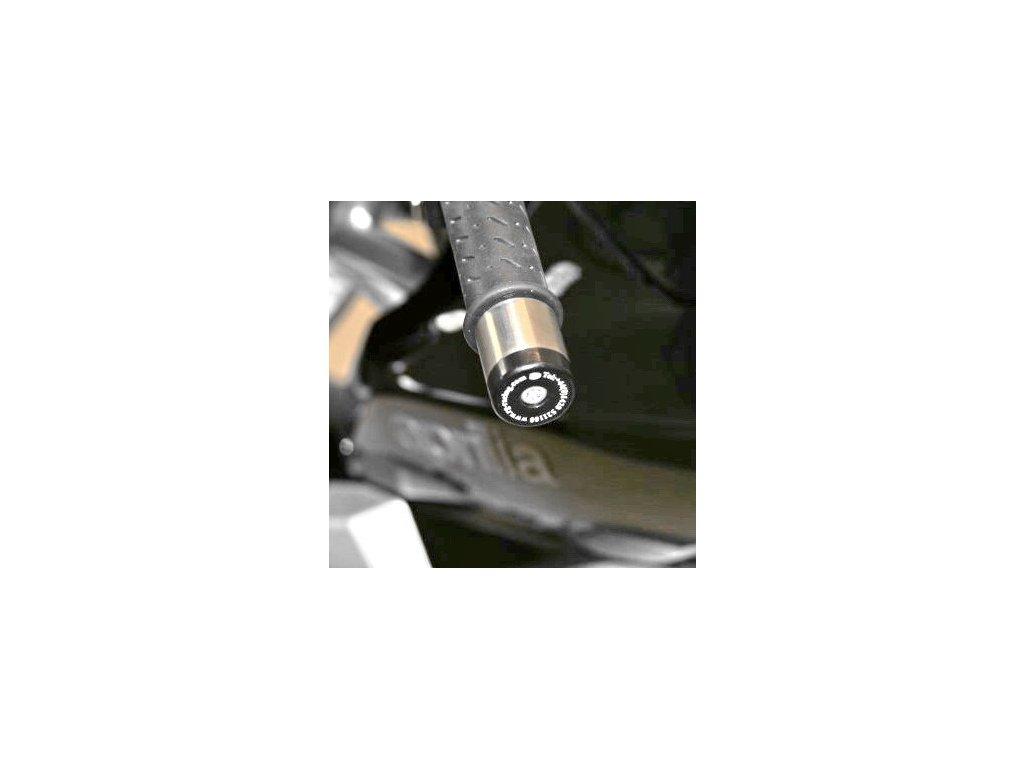 Závaží RG Racing do řidítek pro motocykly Aprilia Futura/Mana '08/RSV Mille '98-/RSVR '04-/Tuono '04-, BMW G650X Country, černá