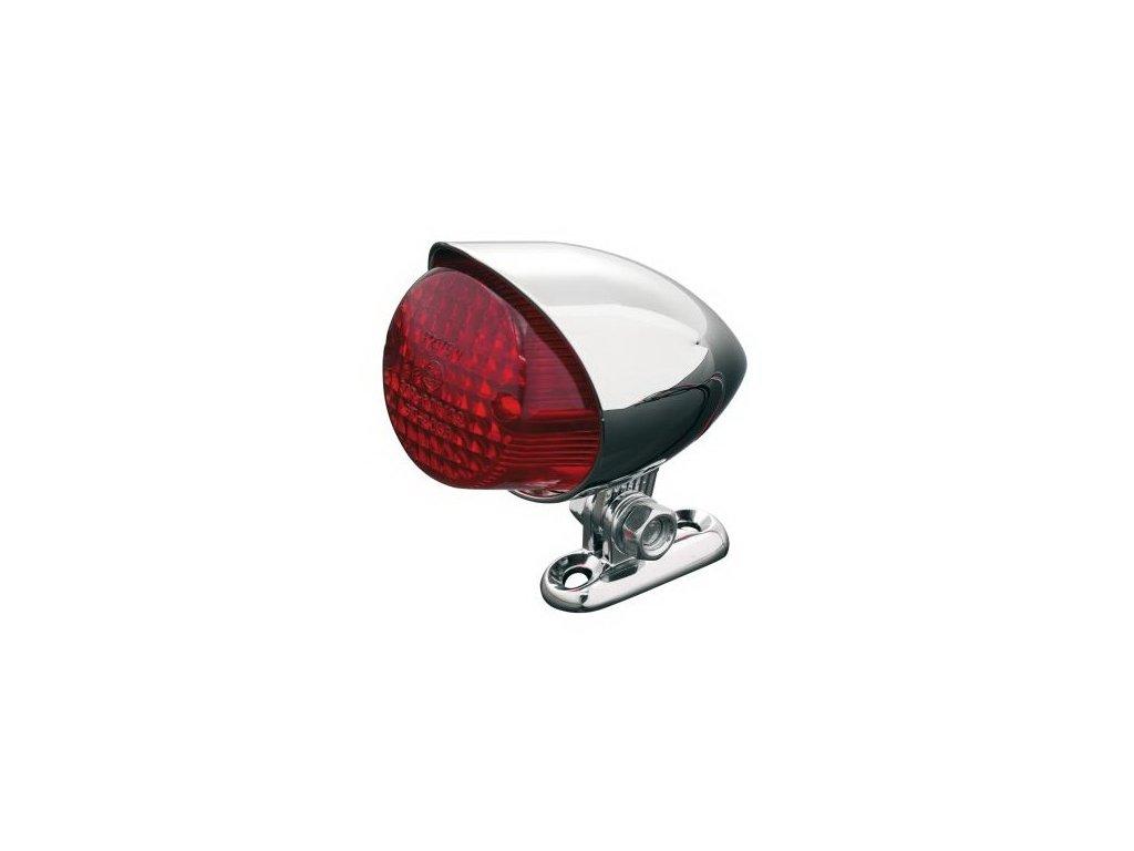Koncové motocyklové světlo Highway Hawk HAWK, d=55mm, E-mark, chrom (1ks)