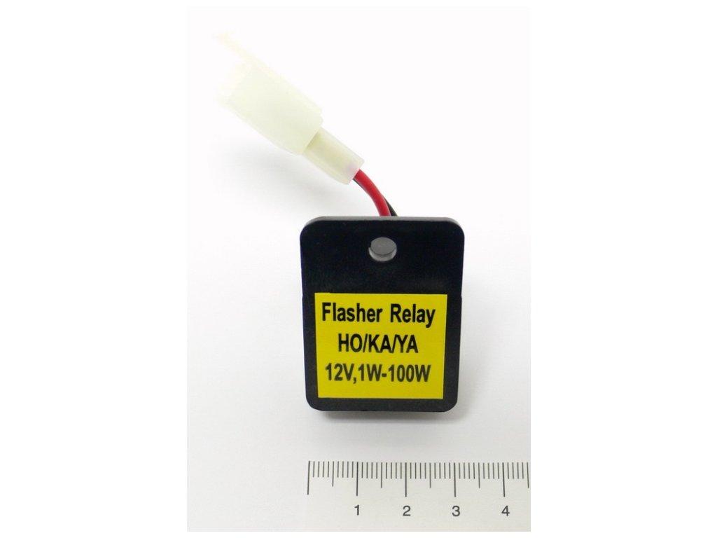 Relé 12V Highway Hawk pro LED blinkry, 2-pólové pro motocykly HONDA, KAWASAKI, SUZUKI, YAMAHA