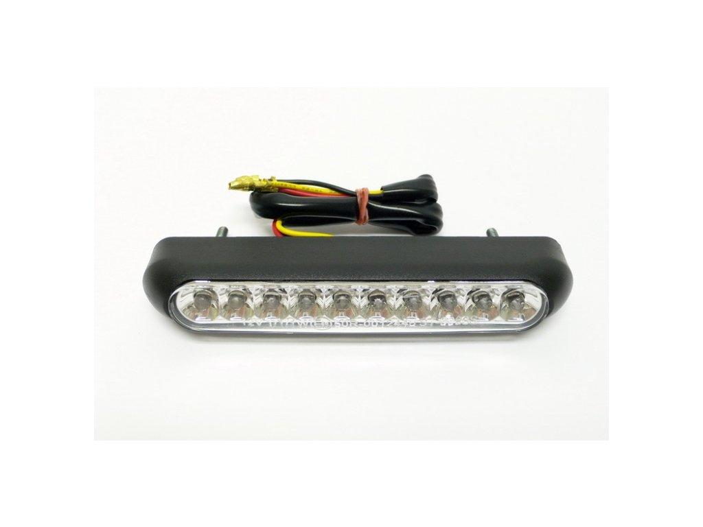 Koncové světlo na motorku Highway Hawk OVAL s LED, osvětlení SPZ, E-mark, černá (1ks)