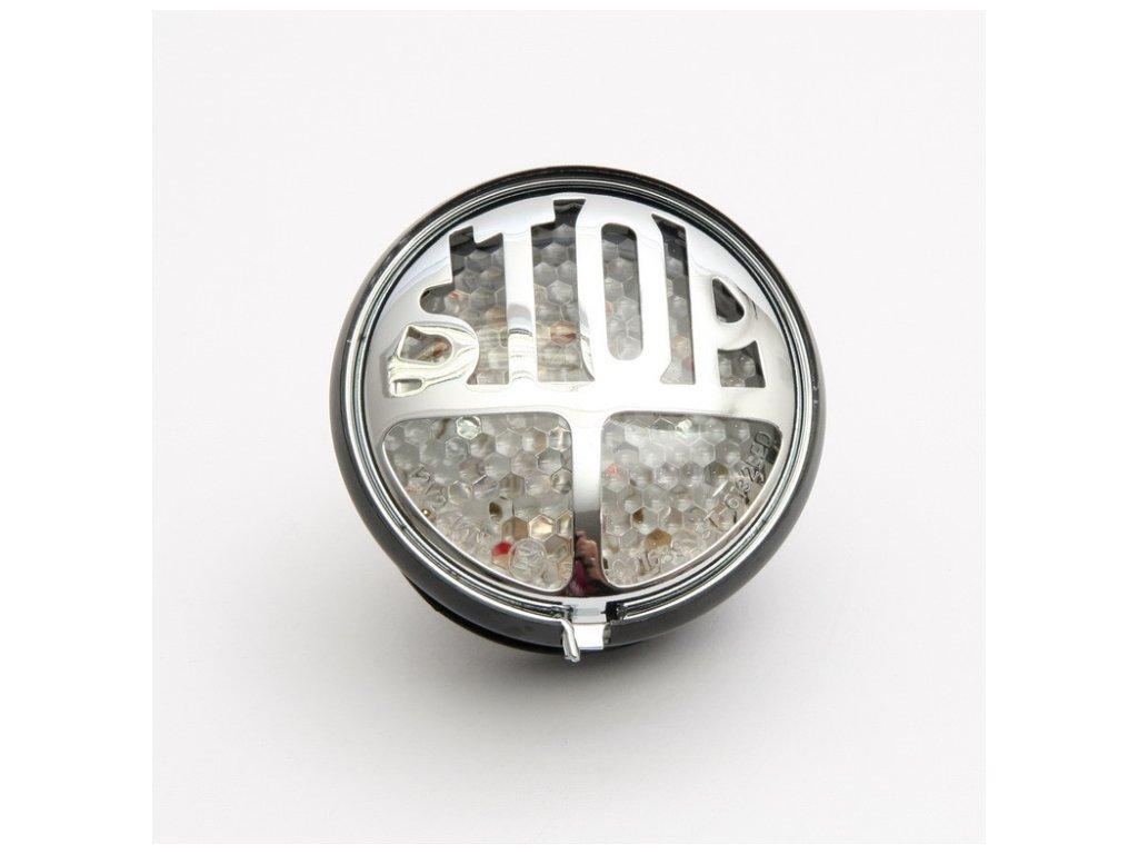 Koncové moto světlo Highway Hawk STOP s LED, osvětlení SPZ, E-mark, černá (1ks)