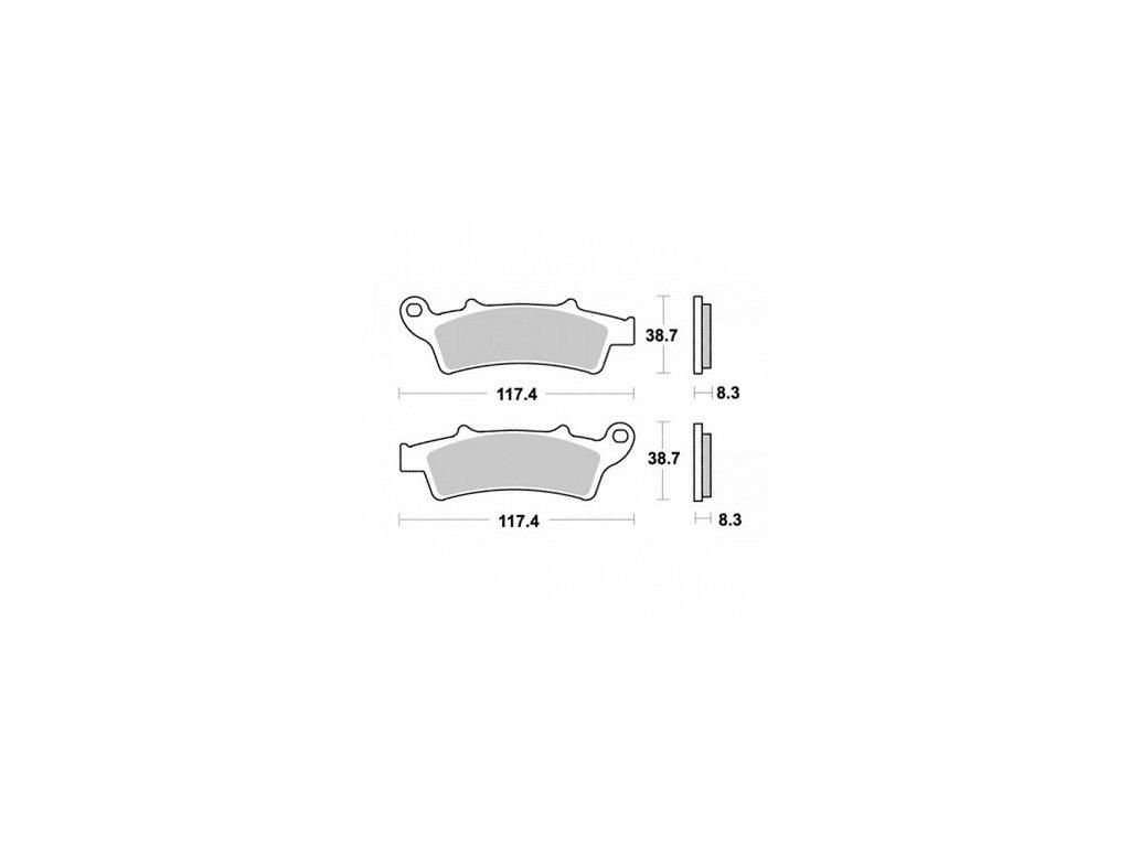 Brzdové destičky KYOTO přední, pro motocykly APRILIA, KYMCO, MALAGUTI, PEUGEOT, PIAGGIO