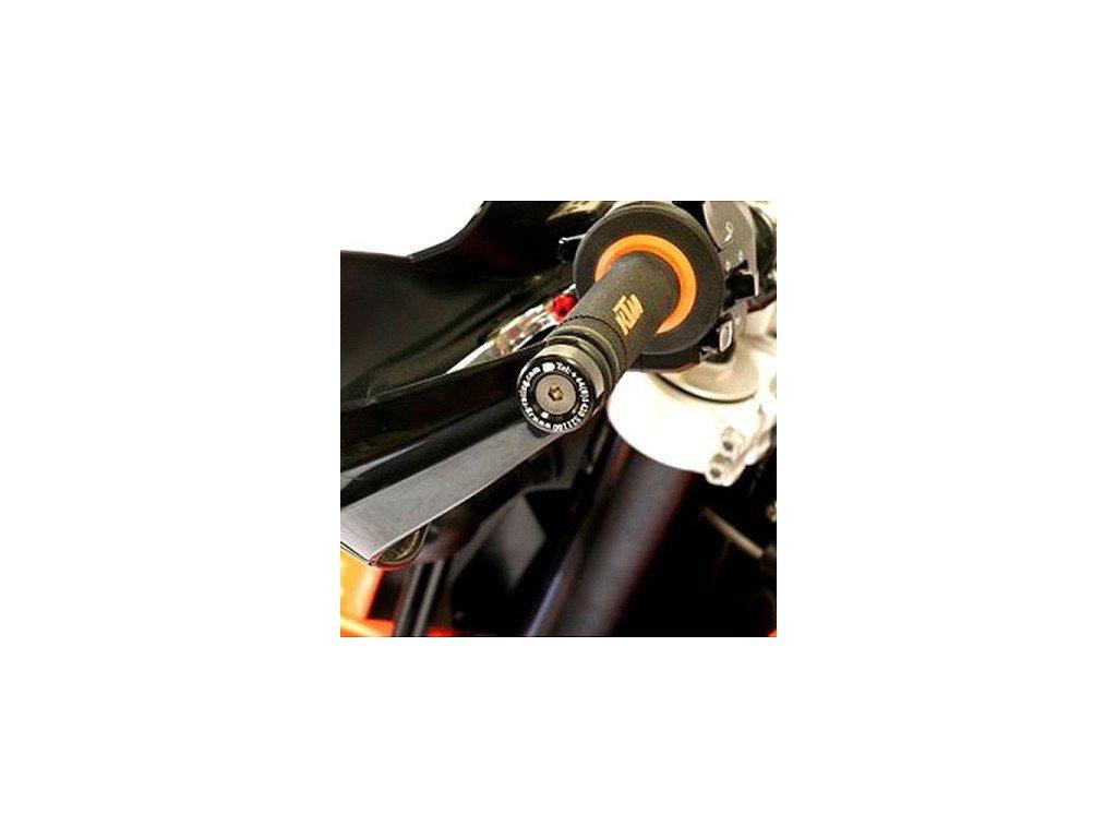 Závaží RG Racing do řidítek pro motocykly KTM 690 Enduro, černé (pár)