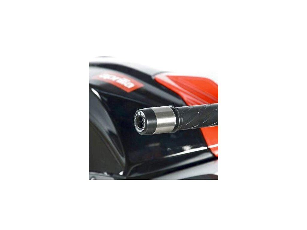 Závaží RG Racing do řidítek pro motocykly APRILIA RS4 125 (2011), černé (pár)