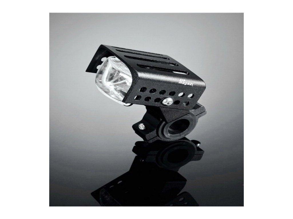 Přídavné moto světlo s krytem Highway Hawk HIGH TECH na řidítka 22/32/38mm, natočení o 90°, černé (1ks)
