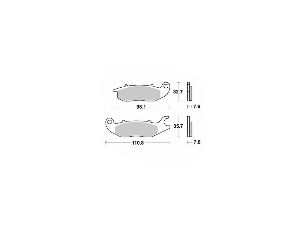 Brzdové destičky KYOTO pro motocykly, přední