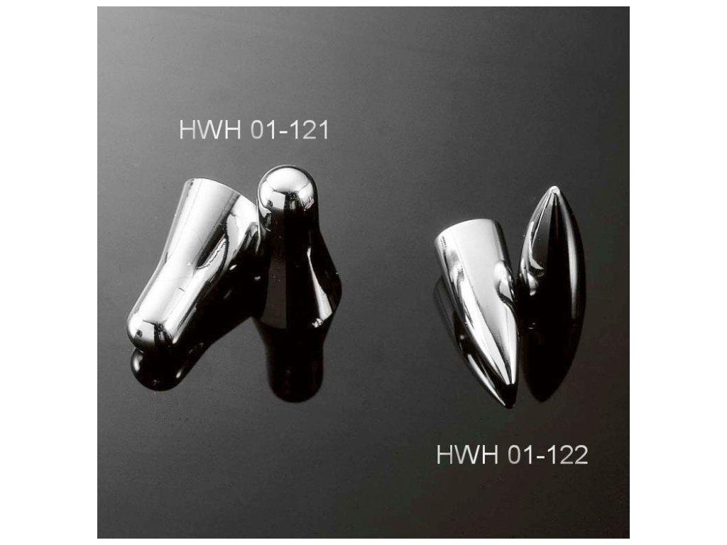 """Highway Hawk Čepičky na ventilky PIKE (kulka), 18""""/19"""", chrom (2ks)"""