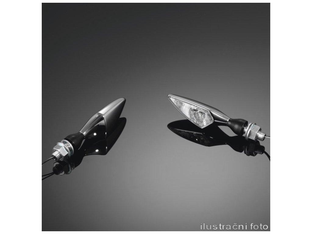 Moto blinkr Highway Hawk NEW MICRO jako pravý přední/levý zadní, E-mark, satin (1ks)