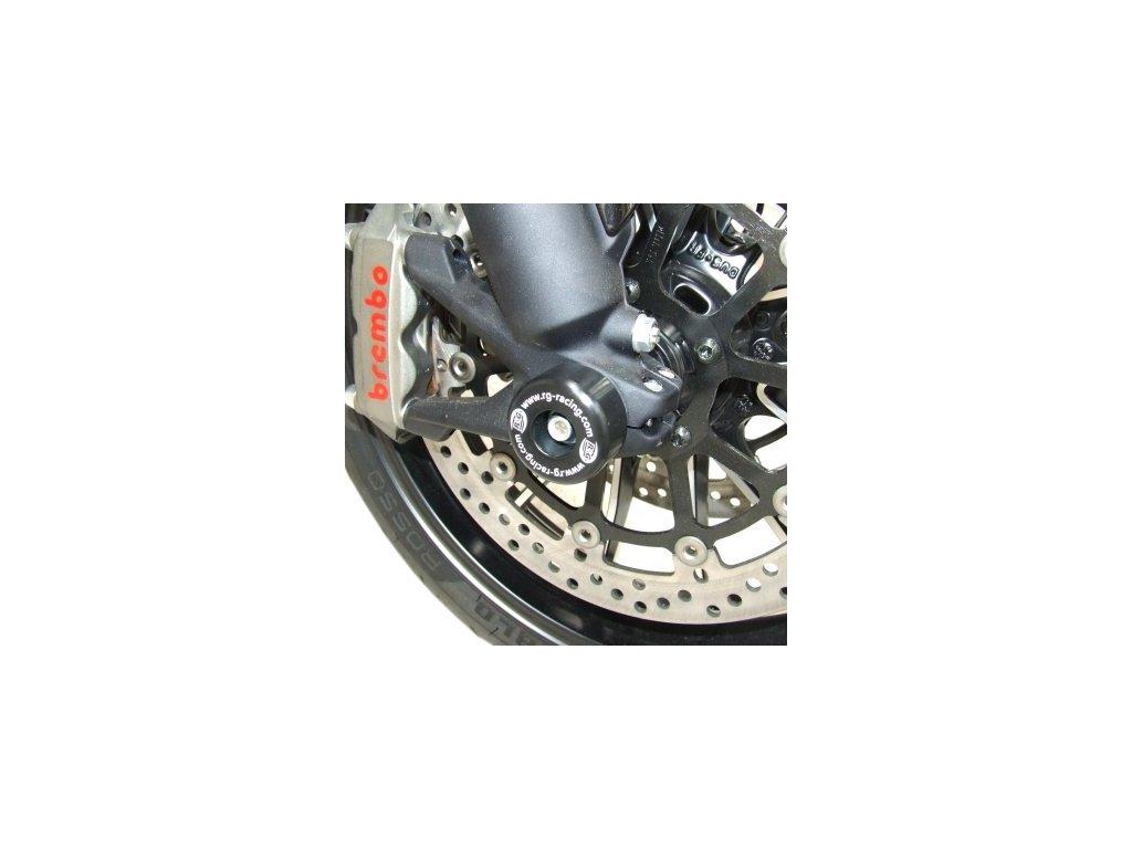 Padací chrániče přední vidlice RG Racing pro motocykly DUCATI Diavel, černé (pár)