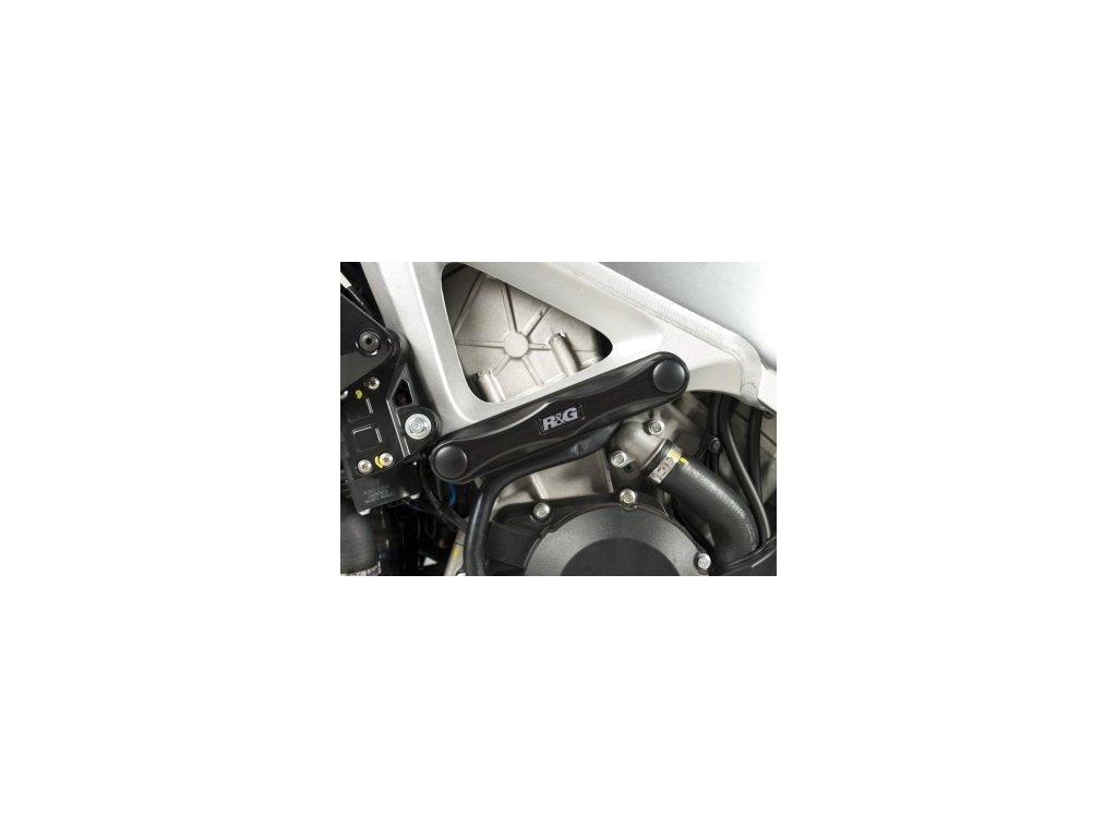 Ochranné protektory rámu RG Racing pro motocykly APRILIA V4 Tuono ('11-) , RSV4-R, RSV4 Factory, černé (pár)