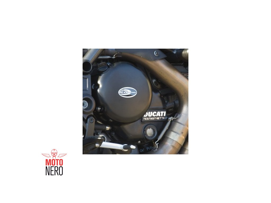 Kryty motoru RG Racing pro motocykly DUCATI Diavel (spojka+vodní čerpadlo), černé (pár)