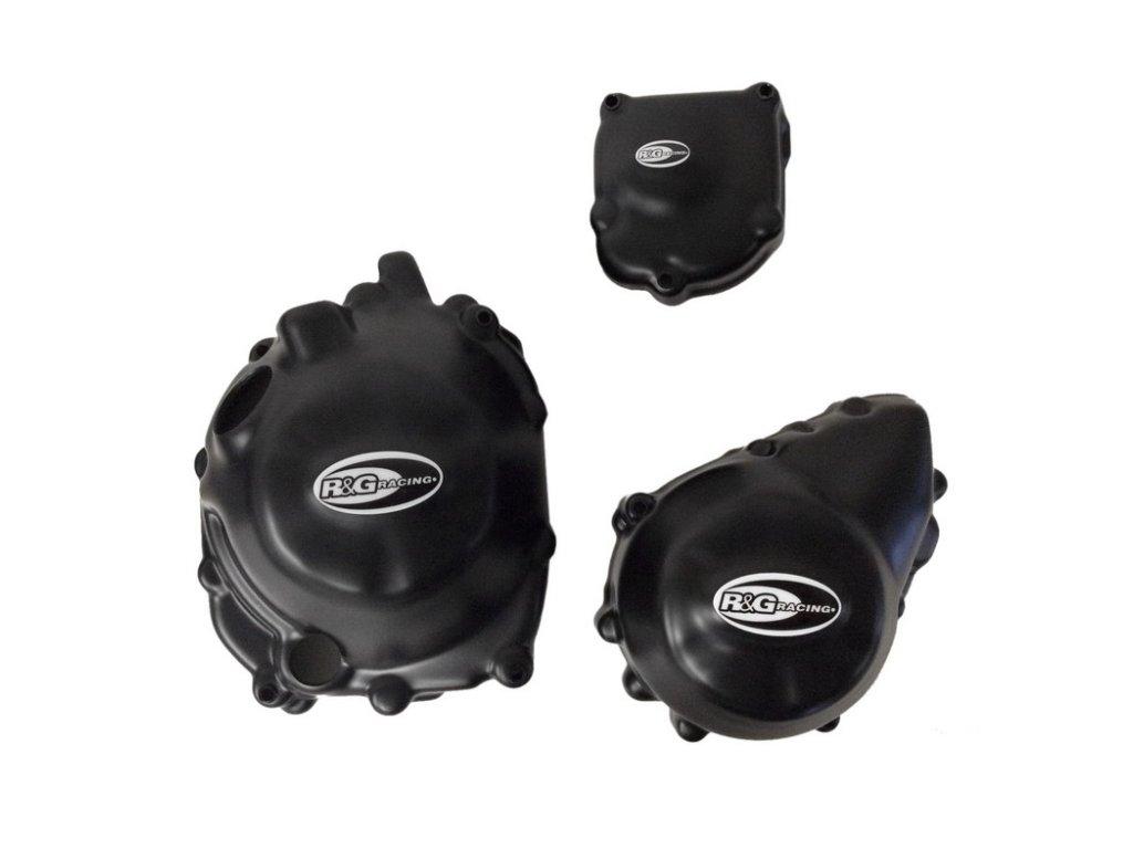 Kryty motoru RG Racing pro motocykly APRILIA Dorsoduro 1200, černé (pár)