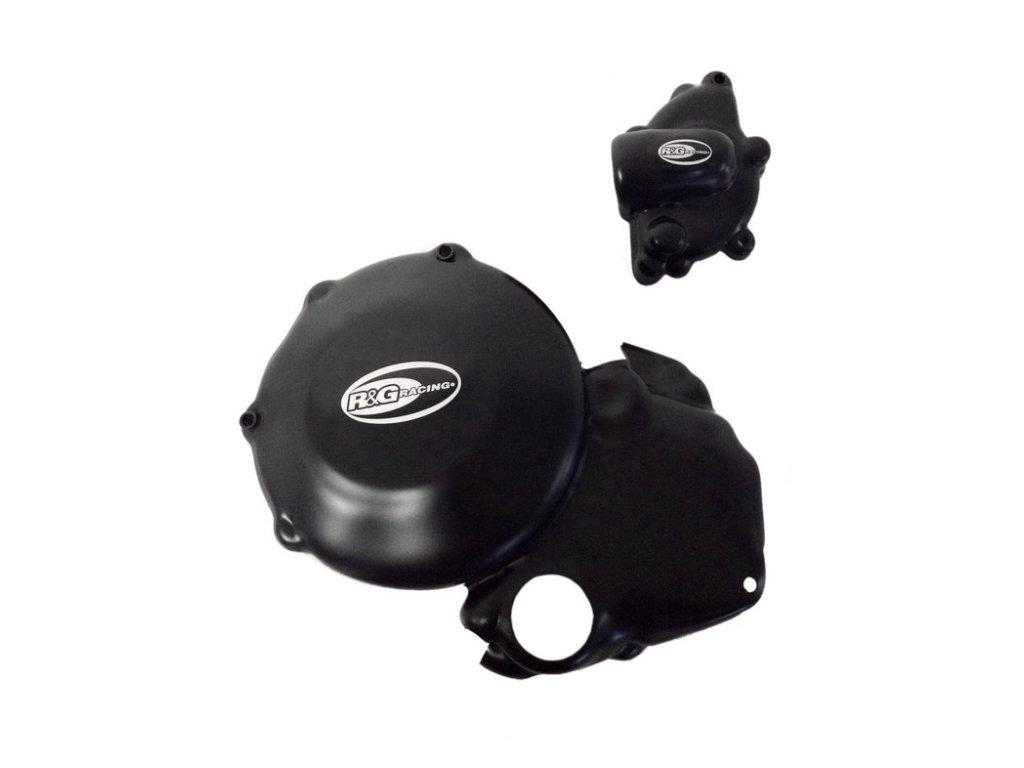 Kryty motoru RG Racing pro motocykly DUCATI 848 Streetfighter, černé (pár)