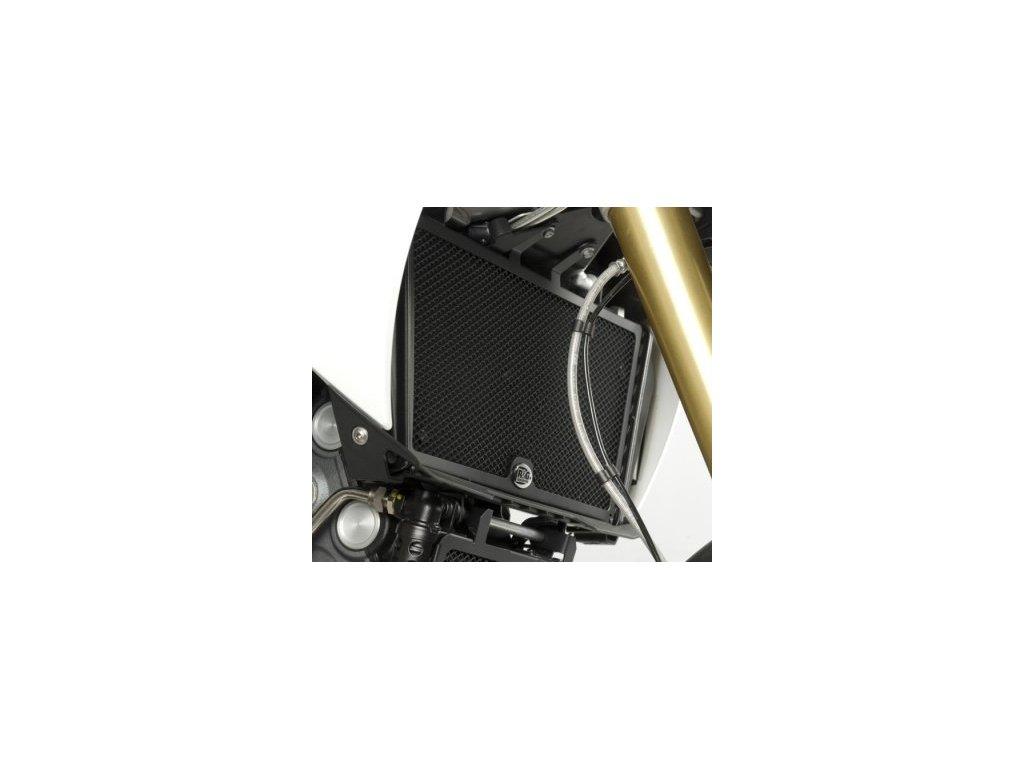 Ochranná mřížka chladiče RG Racing pro motocykly APRILIA Dorsoduro 1200, černá