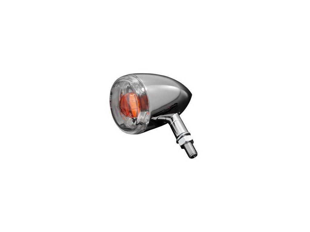 Moto blinkr Highway Hawk 60mm s čirou čočkou, E-mark, chrom (1ks)