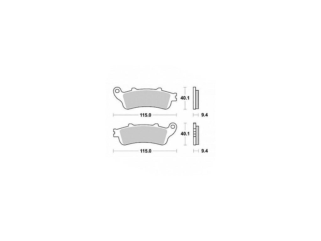 Brzdové destičky KYOTO pro motocykly, přední i zadní