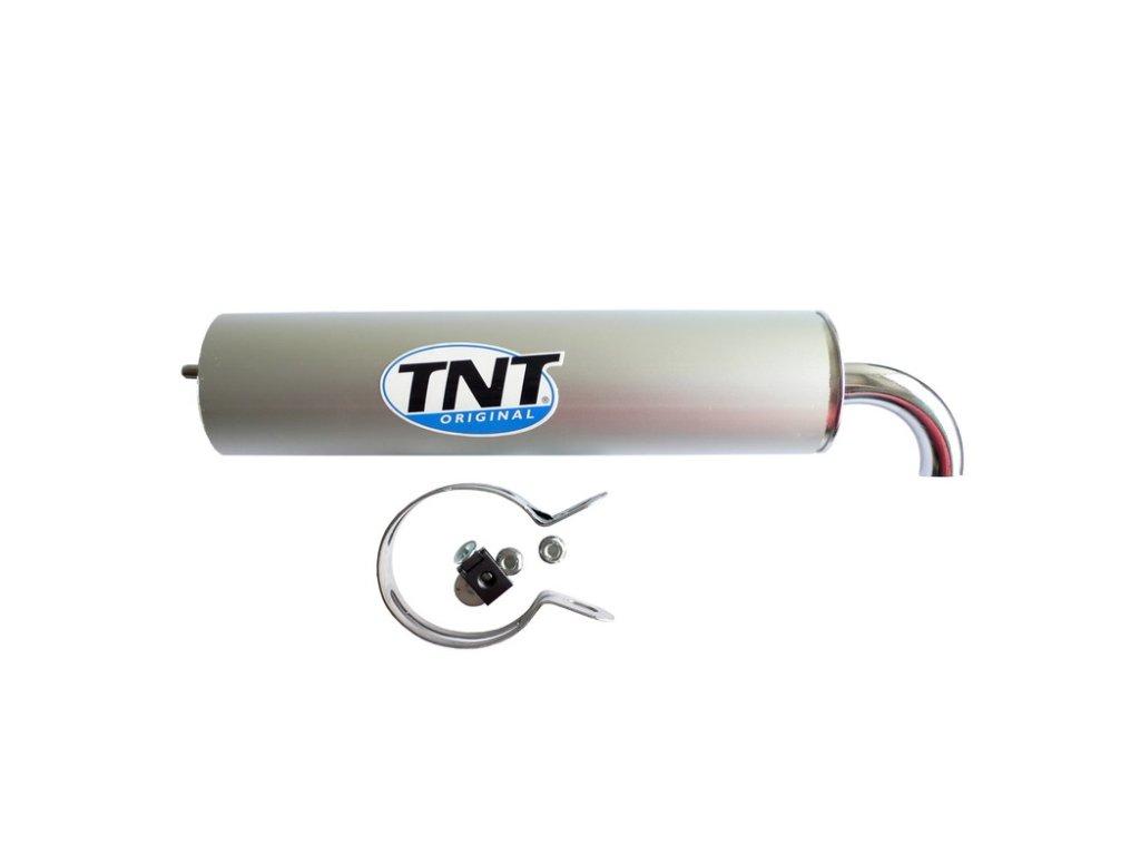 Tlumič výfuku, stříbrný TNT TUNING