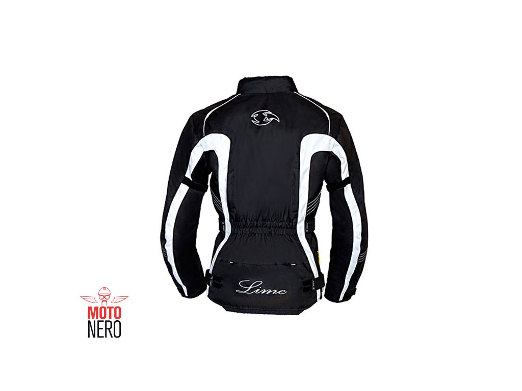 MBW VERENA dámská textilní moto bunda černá bílá - MotoNero.cz 6adb4a9d0b6