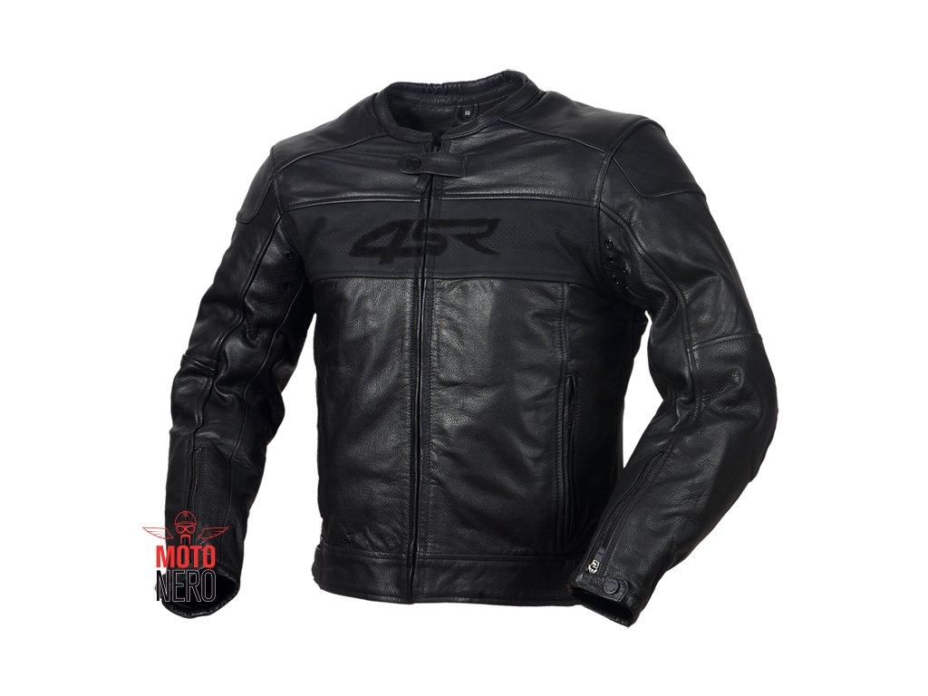 6a7bec11a 4SR HOOLIGAN BLACK VELVET pánská kožená moto bunda - MotoNero.cz
