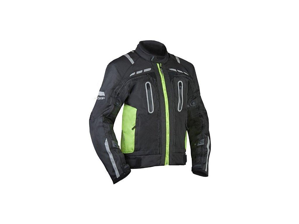 MBW NEAT pánská textilní moto bunda černá fluo - MotoNero.cz 823b2f40ecb