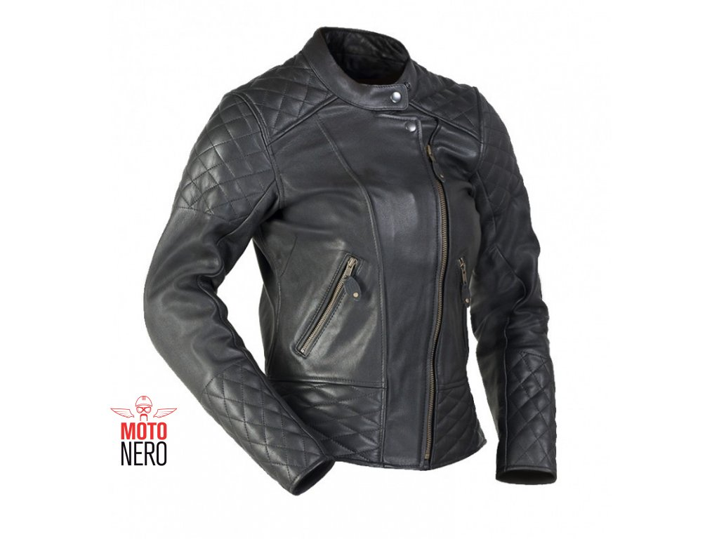 e99686d99 MBW BETTY dámská kožená bunda černá - MotoNero.cz