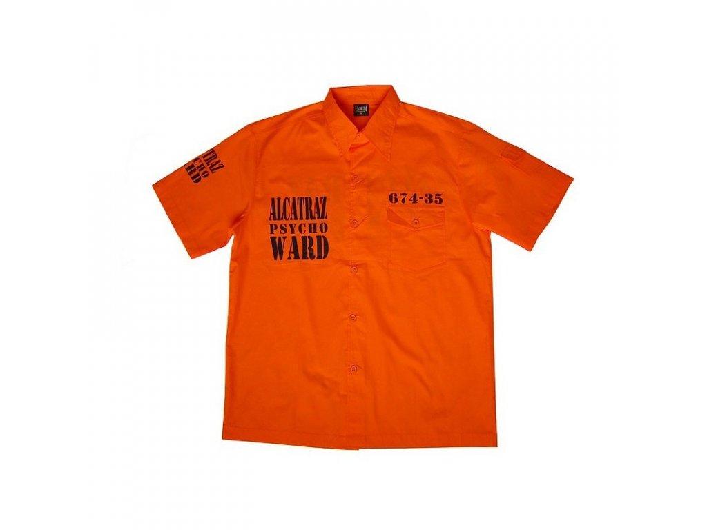 MH Vězeňská košile Alcatraz oranžová