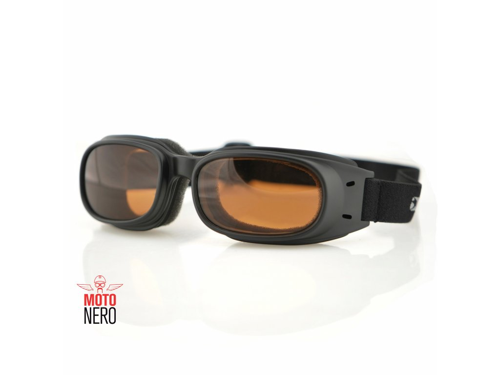BOBSTER PISTON - motocyklové brýle, amber sklo