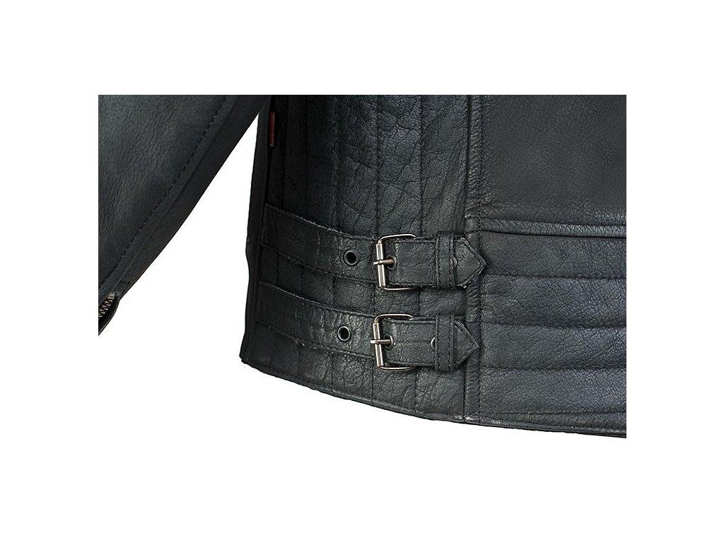 8a9958abf3e MBW HURRICANE kožená retro bunda černá - MotoNero.cz