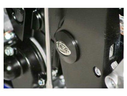 Zátka do rámu, levá, Suzuki GSX-R 600/750 K6-K9, černá
