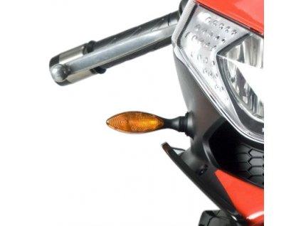 LED blinkry RG Racing oranžové/bíle  (pár)