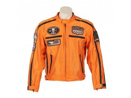 Letní moto bunda BOS 6488 oranžová