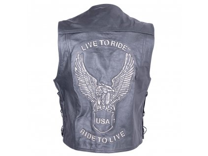 Kožená moto vesta Sodager Live To Ride Vest