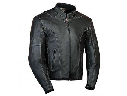 MBW LARROS kožená bunda na motorku černá