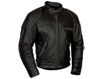 MBW RUSTY pánská kožená retro bunda černá