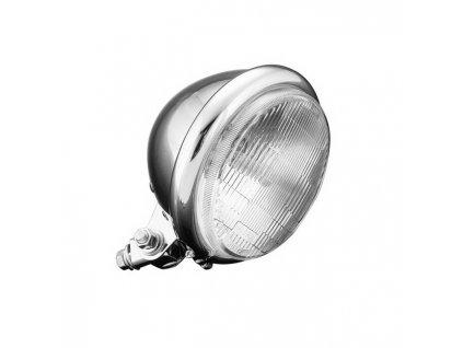 Hlavní světlo na motorku Highway Hawk BATES, d=140mm, chrom (1ks)