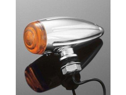 Highway Hawk Světlo na motorku BULLET Tech Glide, chrom (1ks)