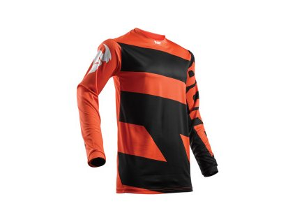 THOR PULSE LEVEL RED ORANGE/BLACK YOUTH dětský motokrosový dres