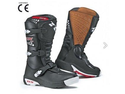 TCX COMP KID dětské motokrosové boty černé vel. 34 AKCE!