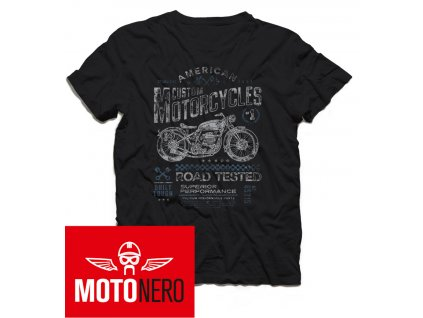 Pánské triko Custom Motorcycles Road Tested