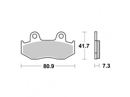 Brzdové destičky pro Honda S1115/2N