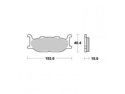 Brzdové destičky pro MBK – Yamaha S1079N