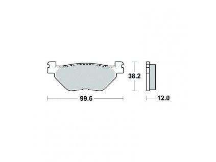 Brzdové destičky Sifam S1269N